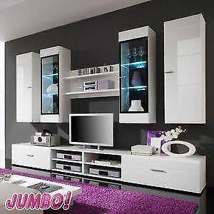 wohnwand beleuchtung bestseller shop f r m bel und einrichtungen. Black Bedroom Furniture Sets. Home Design Ideas