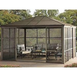 Sunjoy Screen House Gazebo Canopy Patio Marquee Party Outdoor Garden