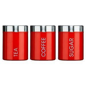 Red Kitchen Canisters
