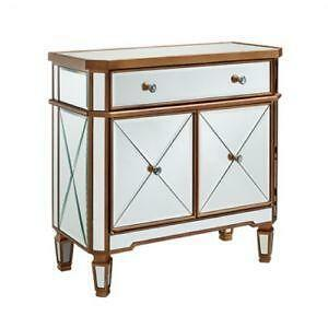 mirrored side tables