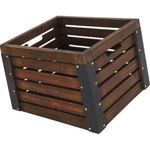 wood milk crates