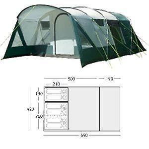Sunnc& 6 Berth Tent  sc 1 st  eBay & 6 Berth Tent   eBay