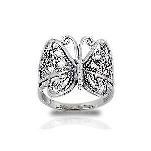 Sterling Silver Butterfly Rings