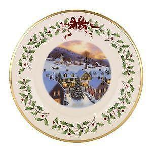 lenox christmas plates