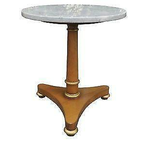 Exceptionnel Vintage Marble Top End Tables