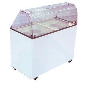 "ICE CREAM DIPPING CABINET - 48""  - CURVED GLASS - NEW"