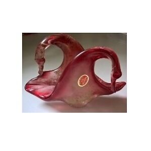 Murano Art Glass Swan Napkin Holder