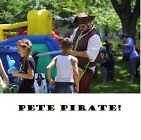 Fête birthday animation Duo pirates barbe à papa ballons magie