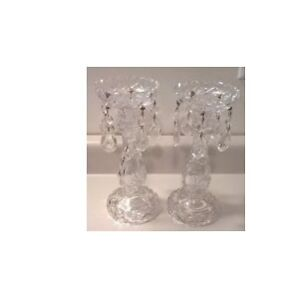 Crystal Candlesticks with Prisms