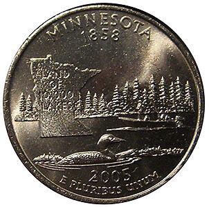 2005-P Minnesota Doubled-die Extra Tree Quarter