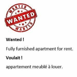 ██▓ Wanted ! Fully furnished 2 bedrooms / August 2016 ▓██