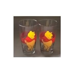 DISNEY Anchor Hocking Juice Glasses WINNIE the POOH