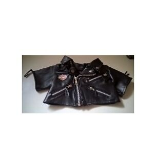 Build A Bear Faux Leather Harley Davidson Biker Jacket