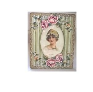 Floral Stained Glass Picture Frame