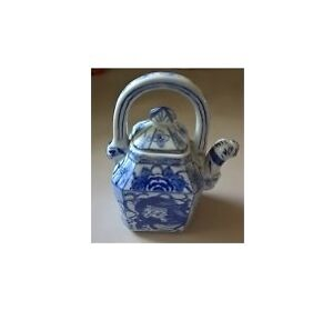Ceramic Asian Blue and White Teapot