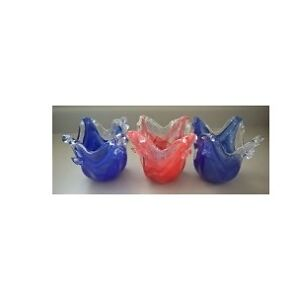 Murano Blown Art Glass Vase /  Candle Holders
