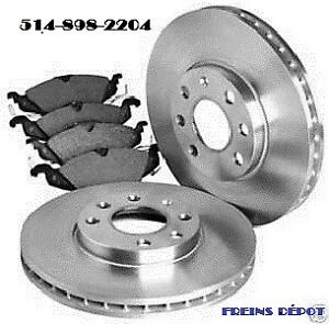 BRAKE FRONT REAR FREINS AVANT ARRIERE PAD ROTOR DISK DISQUE