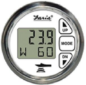 New Digital Depth Sounder With Air & Water Temperature faria Instruments 13852 C ()