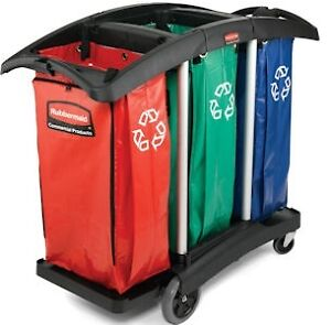 Rubbermaid Triple Capacity Cleaning Cart 9T92