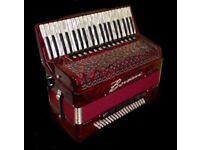 New Borsini 120 base. Double cosotto. Piano accordion. £5,500 new.