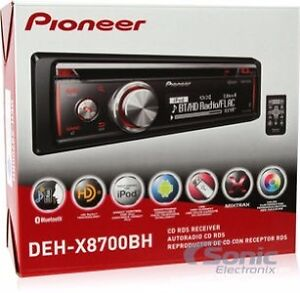 Pioneer Single-DIN Receiver (DEH-X8700BH)