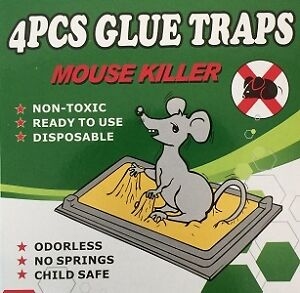 Brand New 4pc Mouse Glue Trap