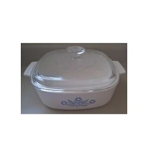 Vintage Corning Ware Blue Cornflower Casserole Dish with lid