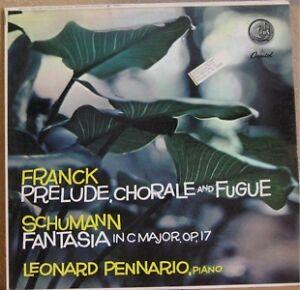 FRANCK-PRELUDE-FUGUE-SCHUMANN-FANTASIA-PENNARIO-LP