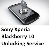 $23 Unlocking Codes for Sony Xperia, Blackberry 10 Phones [e]