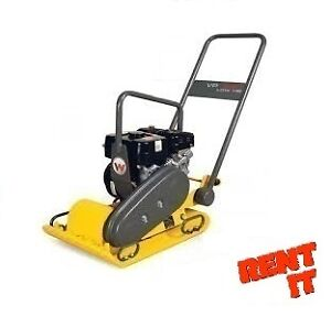 "RENT ME -- WACKER 15"" GAS PLATE DIRT COMPACTOR $50 A DAY"