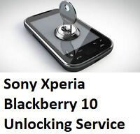 $20 Unlocking Codes for Sony Xperia, Blackberry 10 Phones [o]