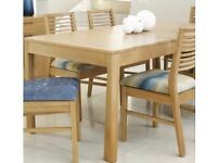 Solid Oak Wood Extending Dining Table Geo / Mark Webster Design