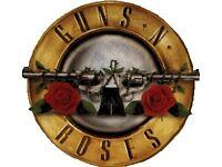 Guns n roses gold circle