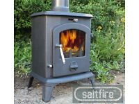 Multi Fuel Wood Log Burner 'Vienna' 5kW Small Burning Virgin Cast Iron Stove (NEW UNUSED)