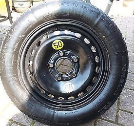 Space saver spare wheel bmw e46