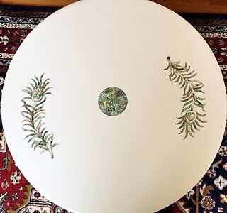 MODERN Handcrafted Marble Marquetry INLAY Table Top Semi Precious Gemstones