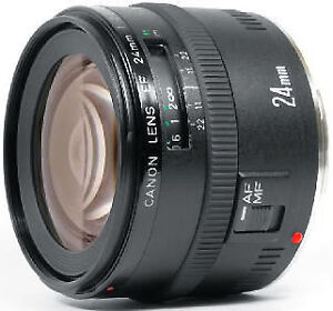 Mint condition Canon EF 24mm f2.8 Image Stabilized lens.