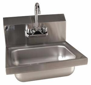Restaurant Equipment - Stainless steel Hand sink with faucet, Commercial sinks, Grease traps, tables, shelves on Sale