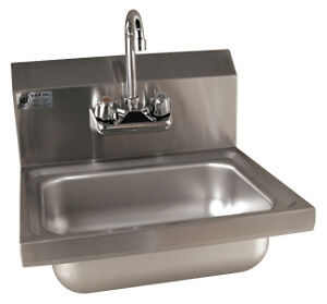 Hand sinks, sinks, faucets, tables, shelves on Sale