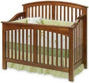 Details about Baby Convertible Crib Nursery Furniture Bed Plans