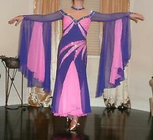 Pink and Purple ballroom dress
