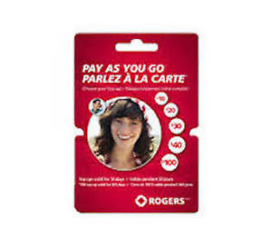 Rogers Pay As You GO credit