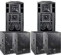 Kit Mackie Fussion 3000 / 1800 Haut-Parleurs Active Speakers Sub