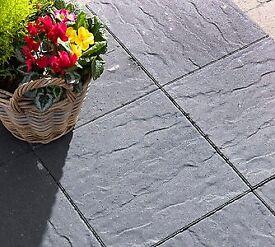 Cashel Charcoal grey slabs 400 x 400 x 40mm x 12