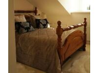 DOUBLE BED (LARGE)- SOLID WOOD
