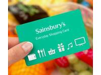 Sainsburys gift card with £245.97 credit