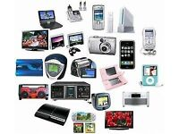 Junk/Broken electrical equipment gravesend and dartford; consoles accessories T.V.'s Phones Tablets