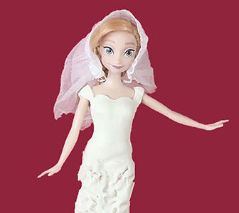 How to make a play doh wedding dress for a barbie doll ebay for How to make a barbie wedding dress