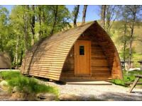 Overnight stay in a glamping pod for 2