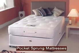 """CASH ON DELIVERY * NEW 5FT KINGSIZE DIVAN BED WITH 9"""" DEEP QUILT MATTRESS, HEADBOARD, DRAWERS"""